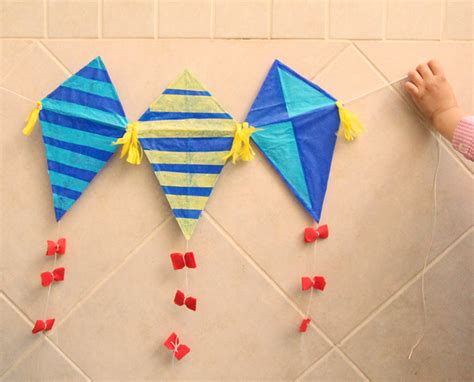 Kite Paper Craft - kid s kite craft with straws creative