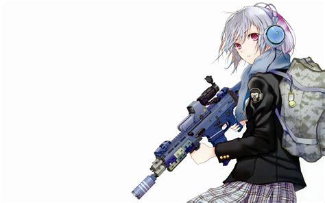 Wallpaper Anime Girl With Gun | anime girl with gun anime manga wallpaper