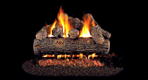 vented gas logs and glass fireplace center kc