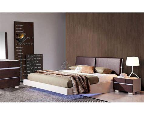 modern bedroom set with led lighting system modern modern bedroom set w floating bed with led lights 44b168set