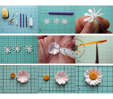 How To Make Paper Daisies - how to make simple paper how to