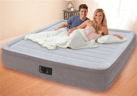 comfort air bed reviews intex comfort plush air bed review airbedhub com