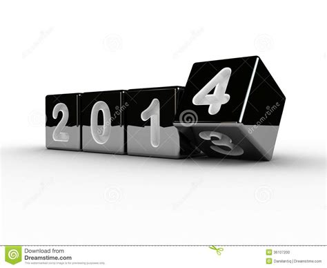 new year box new year 2014 box stock photo image 36107200