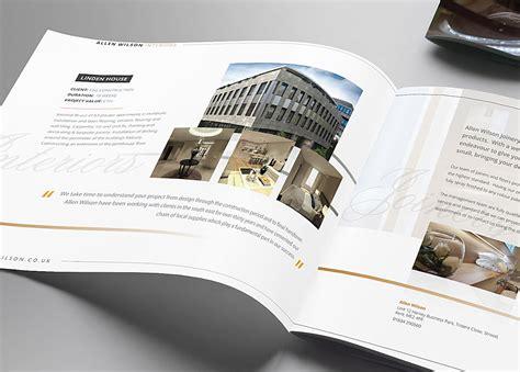 brochure designs uk brochure design for allen wilson group mode nine