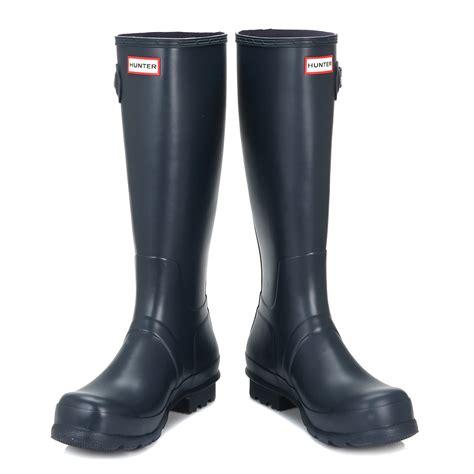 mens knee high boots shoes mens wellies navy blue original wellington