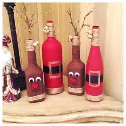 diy christmas decor reindeer from old whiskey bottles and