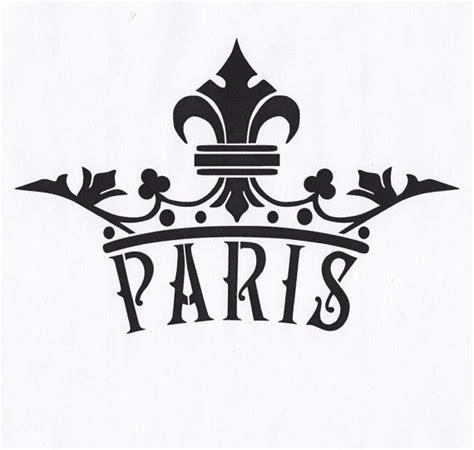printable crown stencil paris stencil crown fleur de lis queen king royal by