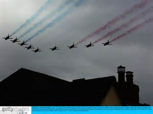 edinburgh tattoo fly past schedule pictured red arrows turns the sky red white and blue to
