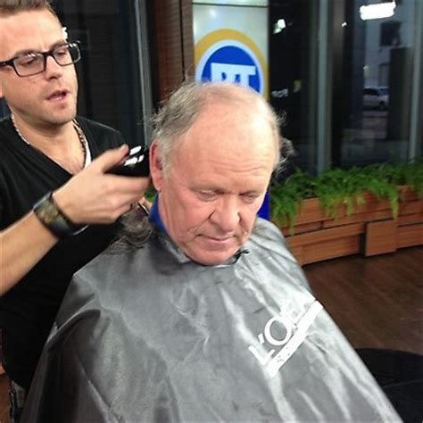 shaves head for cancer citytv s russ holden shaves his head for cancer charity
