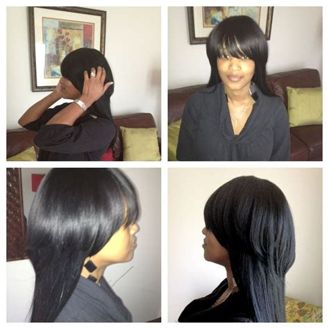 full sew in ponytail no hair out full sew in no hair left out www styleseat com luxelengths