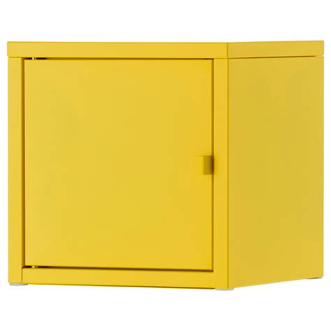 Yellow Metal Storage Cabinet Lixhult Cabinet Metal Yellow 25x25 Cm Ikea