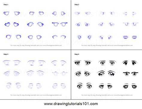 printable how to draw eyes how to draw anime eyes female printable step by step