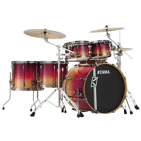 Tama Superstar Hyperdrive Maple Ml62hzbsg 6 Fbf tama superstar 22 quot figured ruby fade limited edition
