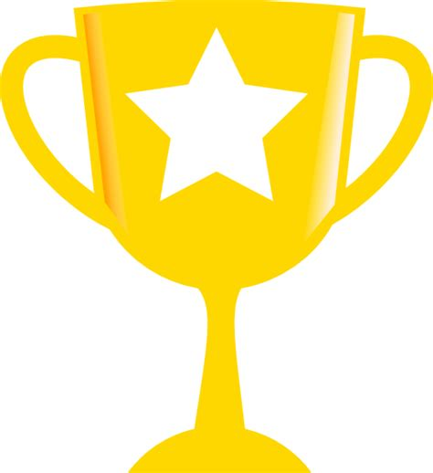 L Award by Golden Trophy Clip At Clker Vector Clip