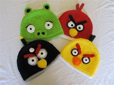gorros de angry birds apexwallpapers com gorro angry birds crochet imagui