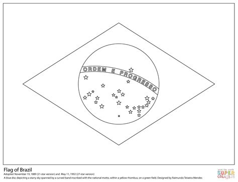 flag of brazil coloring page free printable coloring pages