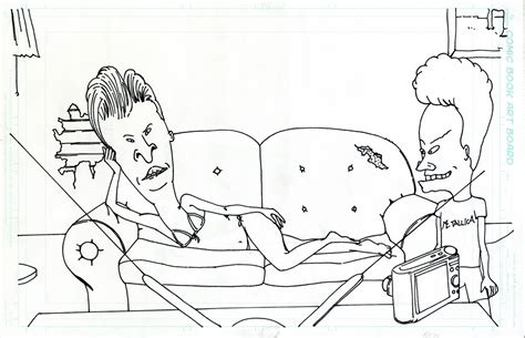 Beavis And Butthead Coloring Pages colored glasses beavis butthead pitch