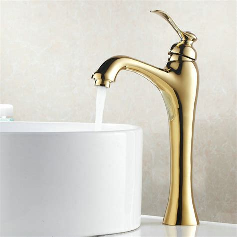 gold color bathroom faucets becola free shipping gold color bathroom faucet deck mounted basin faucet luxury brass