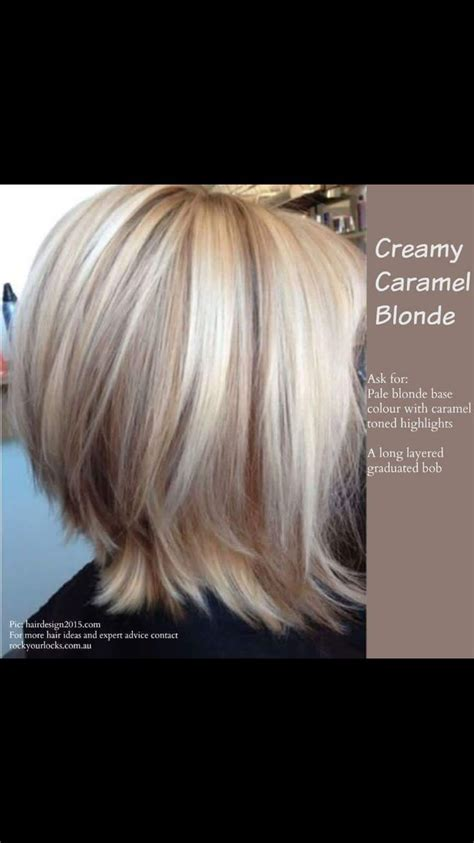 short hair cuts with the colors of carmel brown and highlights creamy carmel blonde hair styles colors pinterest
