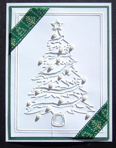 the quot christmas tree quot embossing folder fits cuttlebug