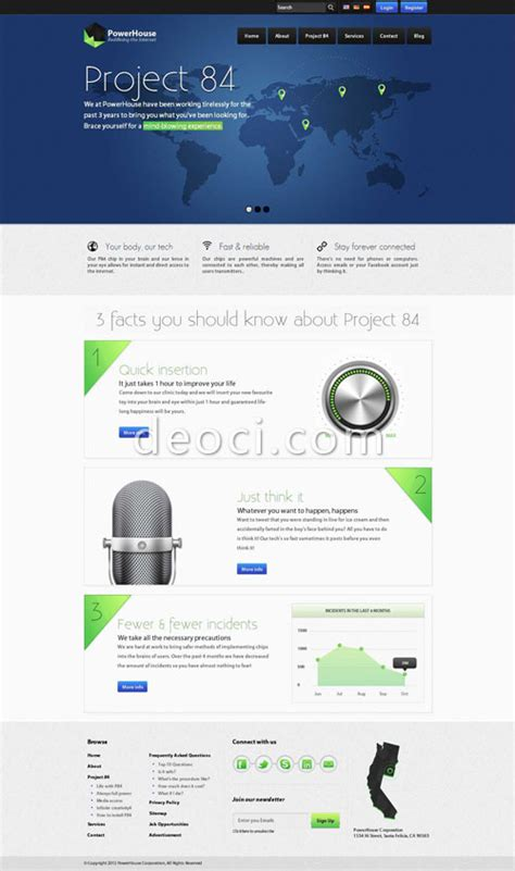 templates for technology website 2012 blue background technology companies website design