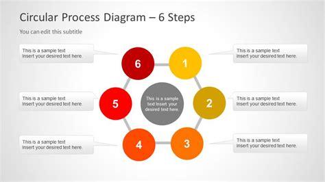 6 steps circular segmented diagram for powerpoint slidemodel creative circular process diagram for powerpoint 6 steps