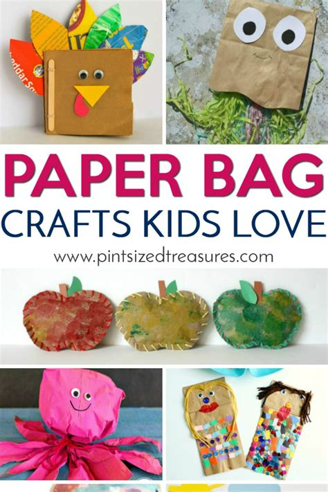 bag crafts paper bag crafts 183 pint sized treasures