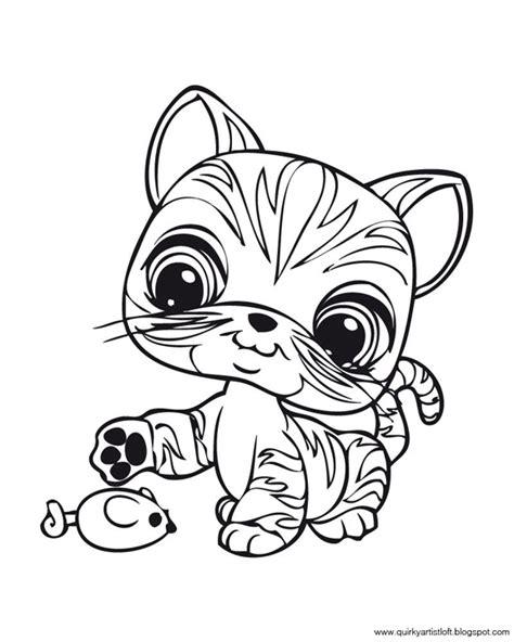 coloring pages lps artist loft littlest pet shop free printable
