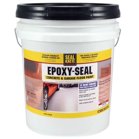 seal krete epoxy seal slate gray 922 5 gal concrete and garage floor paint 922005 the home depot