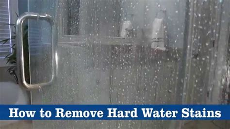 How To Remove Water Spots From Shower Doors by How To Remove Water Stains Using Bkf