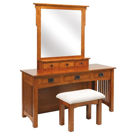 dressing table bench large mission dressing table with bench walnut creek