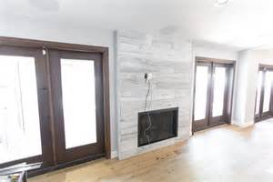 Distressed Kitchen Islands Distressed White Iowa Pine Wood Wall W Steel Fireplace