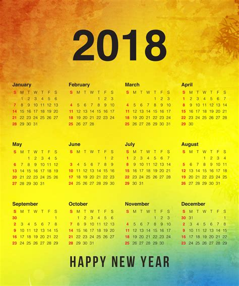 new year 2018 holidays new year 2018 calendar happy new year calendars indian