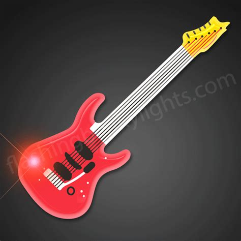 The Light Like A Guitar Only With Light by Led Lights Guitar Pins Many More
