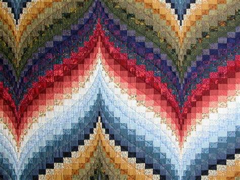 Bargello Patchwork - color wheel bargello quilt superb cleverly made amish