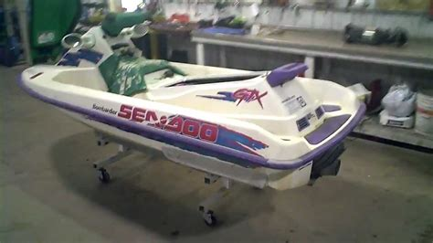 seadoo boat overheating 1995 sea doo gtx 657x engine running lot 956a youtube