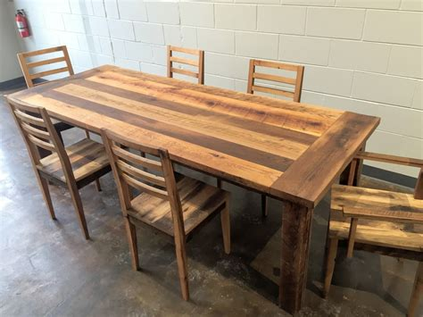 Kitchen Tables Made From Barn Wood Reclaimed Wood Farmhouse Extendable Dining Table Smooth Finish What We Make