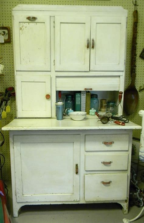 Vintage Hoosier Kitchen Cabinet by Gas Lamp Antiques