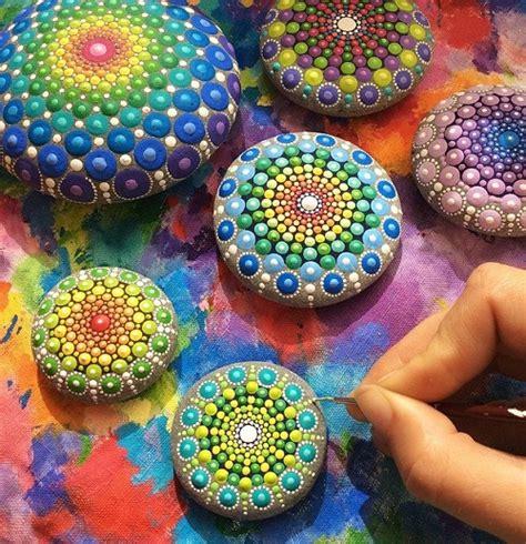 colorful stones colorful mandala stones by australian artist elspeth