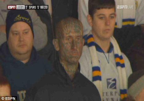 leeds tattoo face tattooed leeds fan still sad even though his team beat
