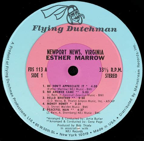 Newport News Va Records Esther Marrow Newport News Virginia Breakwell Records