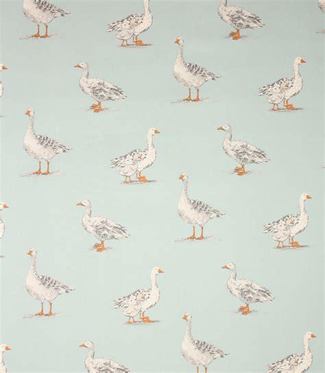 Plaid Curtain Valances Geese Fabric Duck Egg Just Fabrics