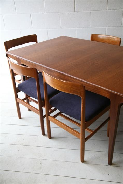 Teak Table And Chairs by 1960s Teak Dining Table And Chairs And Chrome