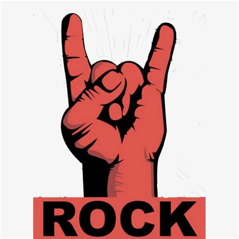 imagenes rokeras vintage rock fingers red retro poster finger rock vintage