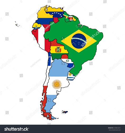 america map flags avopix 243823231 and south america map flags world maps