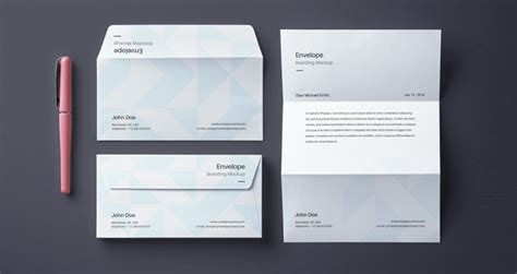 business letter mockup envelope letter psd mockup vol4 psd mock up templates