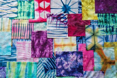 Patchwork Artists - shibori patchwork indigo painting by aimee stewart