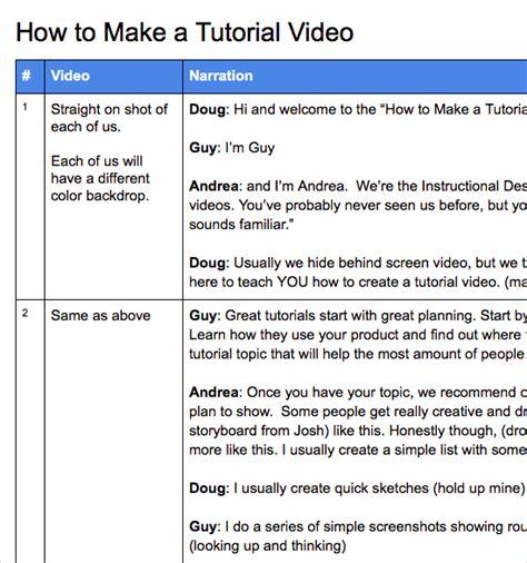 tutorial video script how to make tutorial videos camtasia techsmith