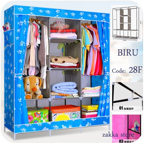 03 Multifunction Wardrobe Cloth Rack With Cover Lemari Pakaia 5 buy multifunction wardrobe rack deals for only rp690 000