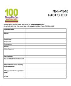 profit sheet template non profit sheet templates 6 free word pdf format